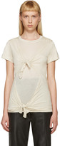 Marques Almeida Beige Slashed & Knotted T-Shirt