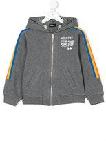 Diesel stripe-trimmed hoodie - kids - Cotton/Polyester - 4 yrs