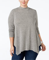 Style&Co. Style & Co. Plus Size Mélange Mock-Neck Top, Only at Macy's