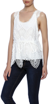 Anna Sui Embroidered Lace Tank