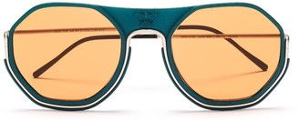 Wires Glasses Sting - Silver/Pine Forest/Orange