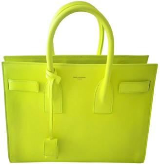 Saint Laurent Sac de Jour Yellow Leather Handbags