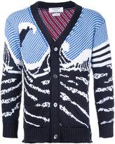 Thom Browne ocean pattern cardigan