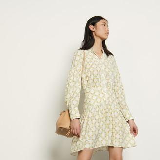 Sandro Short dress in printed jacquard