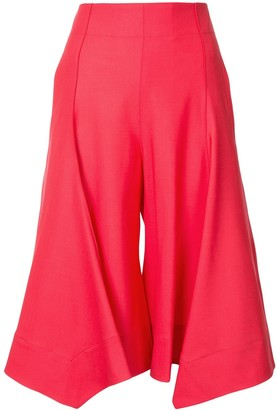 Eudon Choi High Rise Cropped Trousers