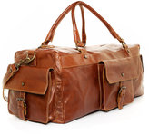 Handmade Leather Carry-On Duffel Bag