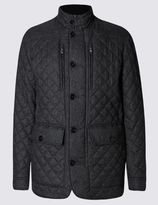 Marks and Spencer Quilted Tailored Fit Jacket with StormwearTM