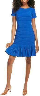 Adrianna Papell Pleated Pintucked Jersey Mini Dress