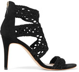 Sandro Agate Cutout Crocheted Suede Sandals