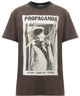 Acne Studios Erice Propaganda Magazine-print Cotton T-shirt - Black