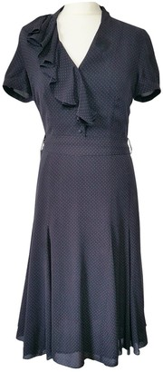 Hobbs Navy Silk Dress for Women