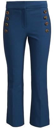 Derek Lam 10 Crosby Adeline Cropped Flare Trousers