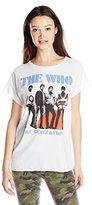 Junk Food Clothing Junior's The Who Short Sleeve Graphic Tee
