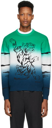 Kenzo Green Gradient Tiger Sweater