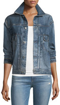 AG Jeans Cassie Button-Front Faded Denim Jacket
