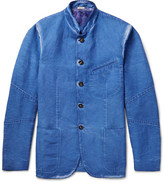 Massimo Alba Stand-Collar Faded Linen and Cotton-Blend Jacket