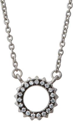 Freida Rothman Crown Pendant Necklace, Gray