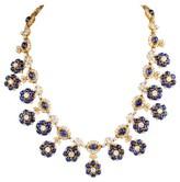 Harry Winston 18K Yellow Gold Sapphire and Diamond Necklace
