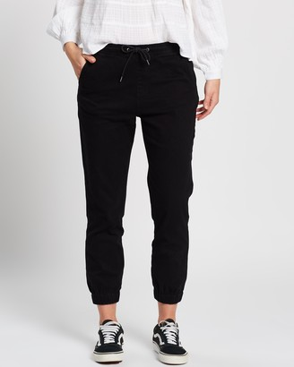 Rusty Women's Black Tapered pants - Hooky High Waist Pants - Size 6 at The Iconic