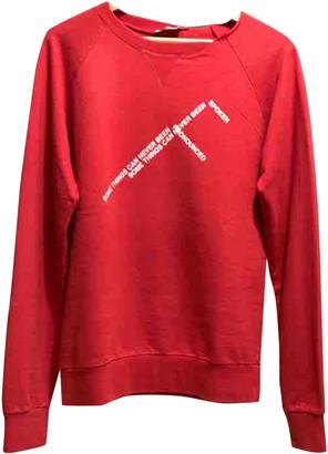 Christian Dior Red Cotton Knitwear & Sweatshirts