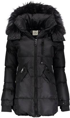 SAM. Cruiser Fur-Trim Down Puffer Coat