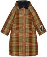Gucci Check wool coat with Horsebit