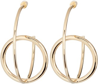 Bonheur Jewelry Ana Interlocking Orbit Hoop Earrings