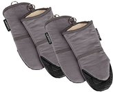 Cuisinart Oven Mitt with Non-Slip Silicone Grip, Heat Resistant to 500° F, Grey, 4pk