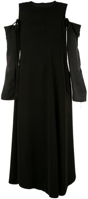 Song For The Mute Detachable-Sleeve Twisted Dress
