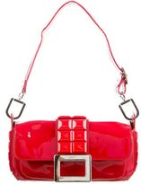 Roger Vivier Red Patent Leather Swiss Chocolate Shoulder Bag