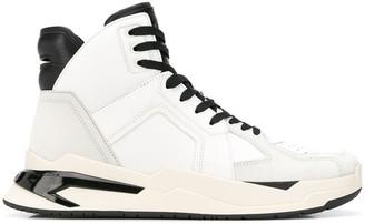 Balmain Panelled High-Top Sneakers