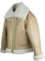 Wide Fit Mouton Jacket Beige