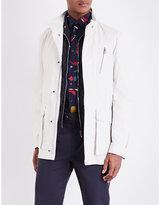 Salvatore Ferragamo Patch pocket leather raincoat