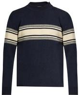 Saint Laurent Striped Crew-neck Sweater