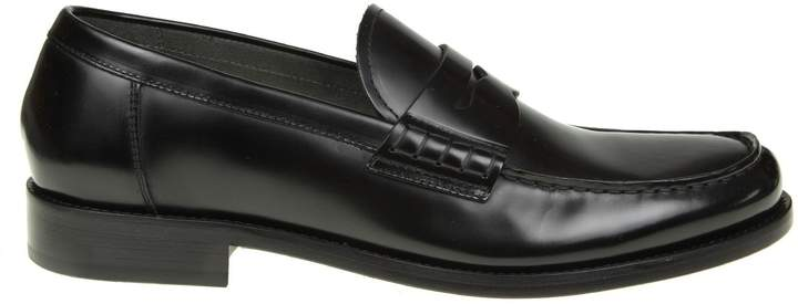 Doucal's Leather Moccasin Color Black