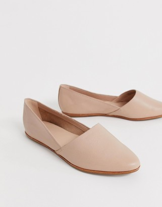 Aldo Blanchette soft leather flat shoe in pink