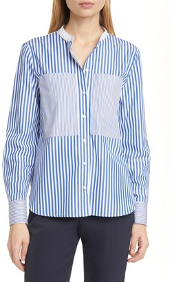 Judith And Charles Mixed Stripe Blouse