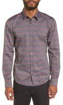 BOSS Men's Reid Slim Fit Stripe Sport Shirt