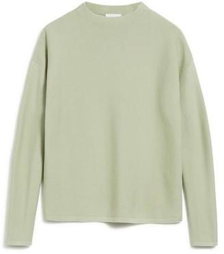 Armedangels Knitted Organic Cotton Medinaa Jumper In Pistachio Light Green - L