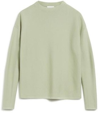 Armedangels Knitted Organic Cotton Medinaa Jumper In Pistachio Light Green - XL