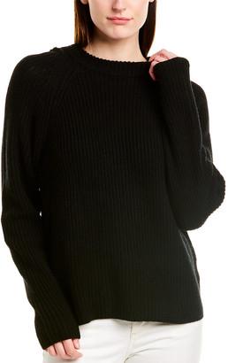 Vince Raglan Wool & Cashmere-Blend Hoodie