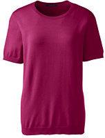 Classic Women's Regular Short Sleeve Performance Sweater-Rich Red