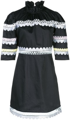 Cynthia Rowley Whitley scalloped embroidered dress