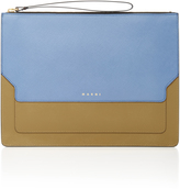 Marni Color-Block Leather Clutch