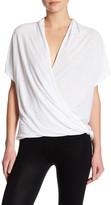 David Lerner Low-Cut Surplice Short Sleeve Shirt