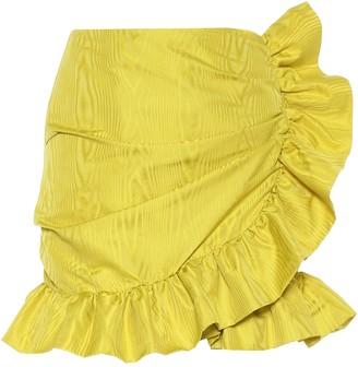 Costarellos Lunella ruffled taffeta wrap skirt