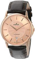 Edox 56001 37R ROIR Unisex Watch Analogue Quartz Brown Leather Strap