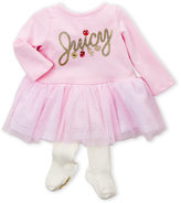 Juicy Couture Newborn Girls) Two-Piece Glitter Tulle Dress & Tights Set