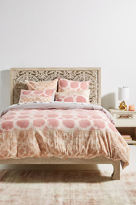 Anthropologie Pieced Cerise Duvet Cover By in Pink Size Q top/bed