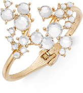 INC International Concepts Gold-Tone Crystal Cluster Hinged Bangle Bracelet, Only at Macy's